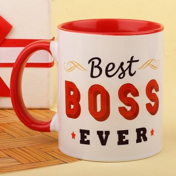 Best Boss Ever Printed Coffee Mug