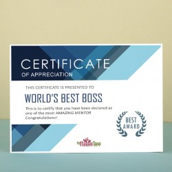 Best Boss Ever Appreciation Certificate