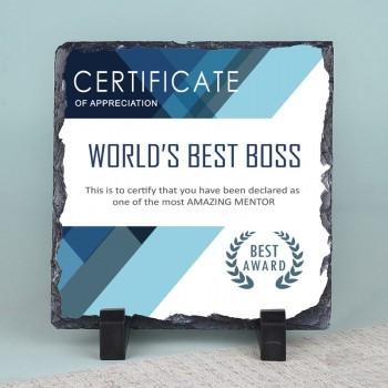 Best Boss Appreciation Printed Stone