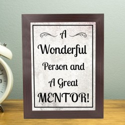 Great Mentor Wooden Frame