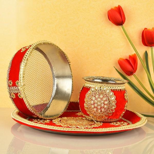 Karwa Chauth Pooja Thali