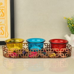 Colourful Glass Candles Potpourri