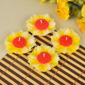 Set of 4 Flower Shape Candle