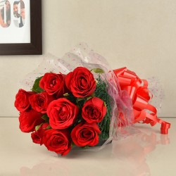 10 Red Roses Bunch
