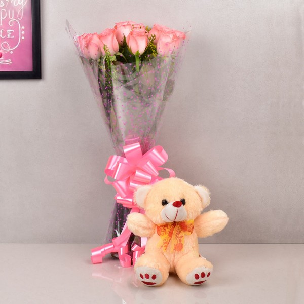 Flowers Teddy Combo