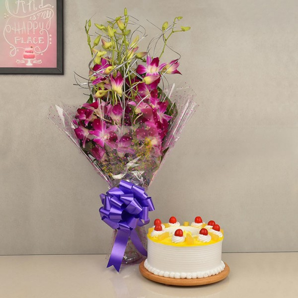 Flowers Cake Combo