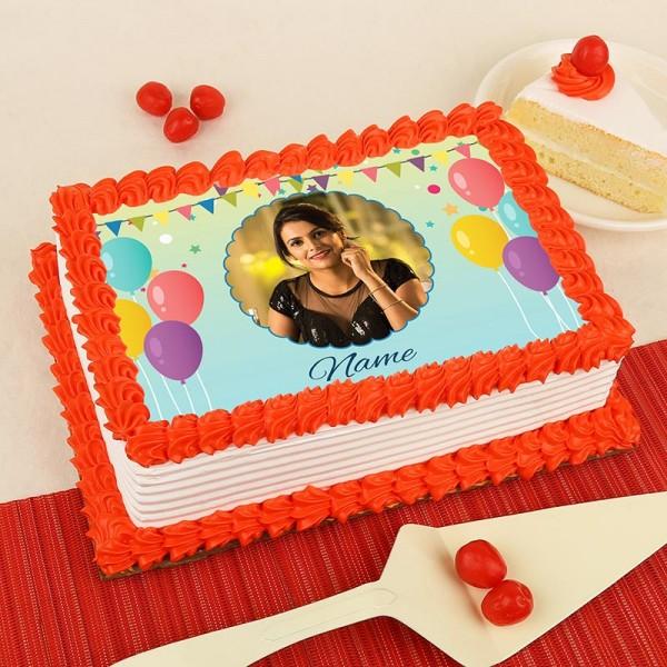 Elegant Birthday Photo Cake Myflowertree