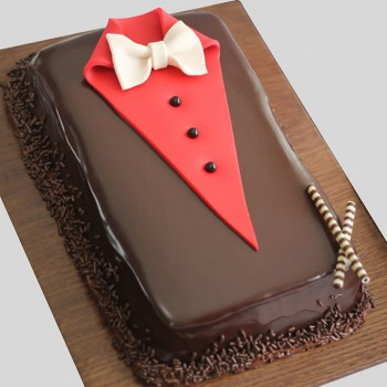 2 Kg Fondant Chocolate Cake for Men