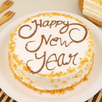 New Year Half Kg Butterscotch Cake