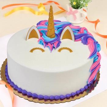 2 Kg Fondant Unicorn Vanilla Cake