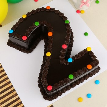 2 Kg Designer Chocolate Two Number Cake