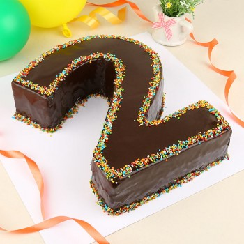 2 Kg Designer Chocolate Number Cake