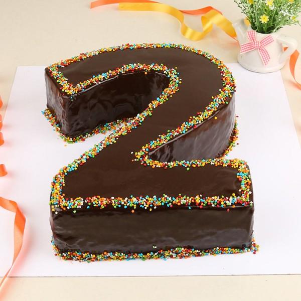 2 Kg Designer Chocolate Number Cake