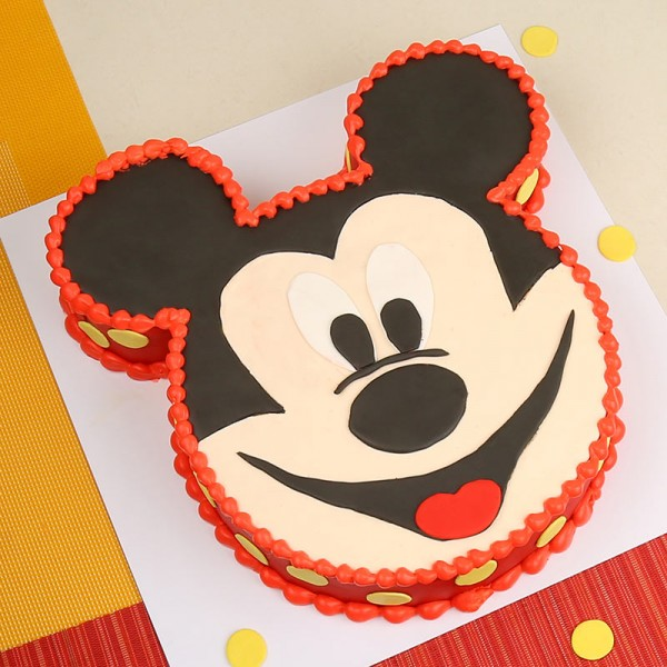 2 Kg Mickey Mouse Chocolate Cream Cake