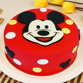 1 Kg Mickey Mouse Theme Chocolate Fondant Cake