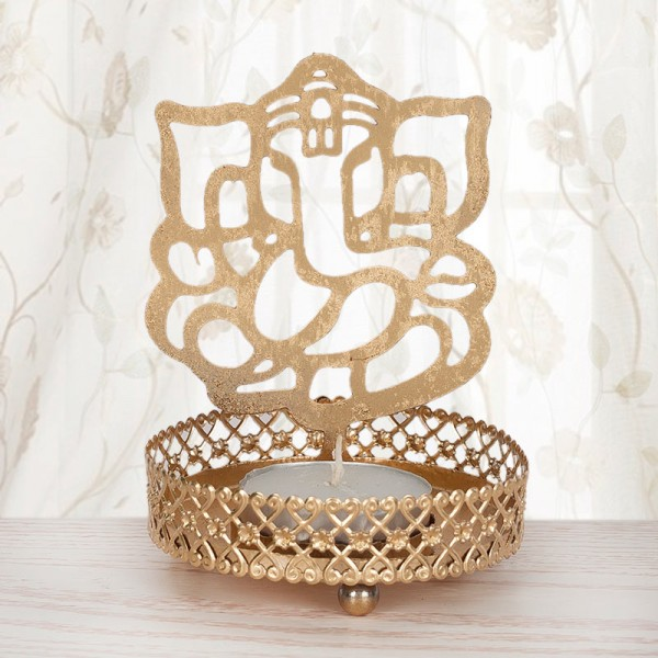 Tea Light Candle Ganesha Stand