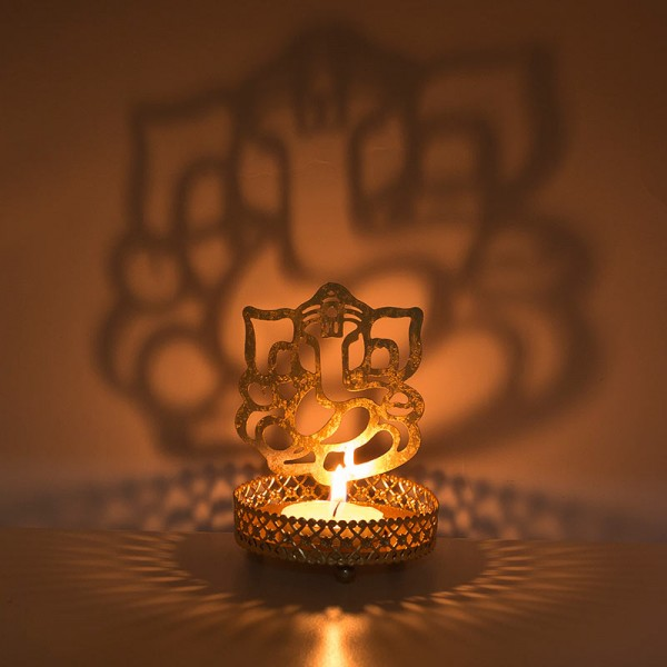 Ganesha Tea Light Candle Stand