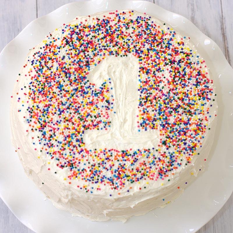Colorful Sprinkled Cake