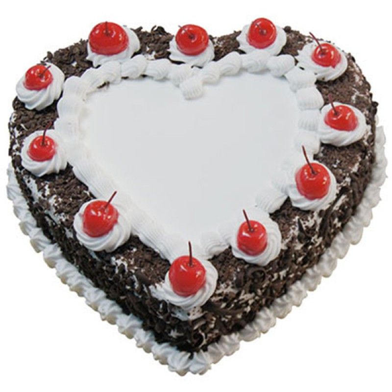 Tempting Heart-Shaped Blackforest