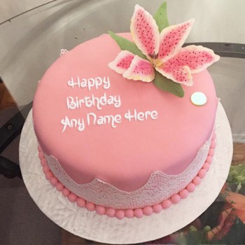 One Kg Designer Strawberry Birthday Fondant Cake
