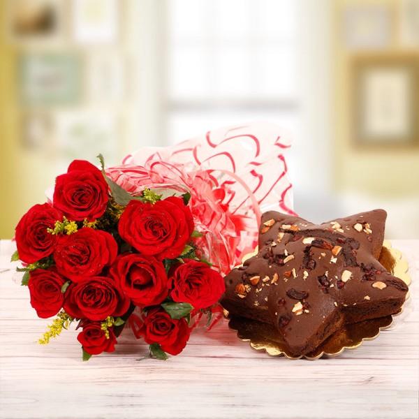 Enduring Roses n Star Cake