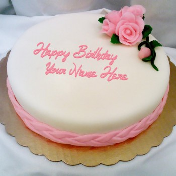 One Kg Birthday Theme Vanilla Fondant Cake