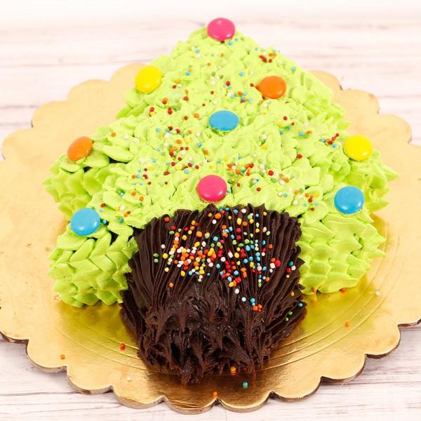 Half Kg Christmas Tree Chocolate Dry Cake