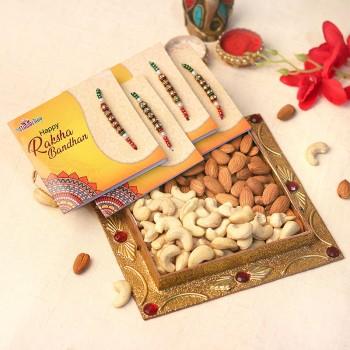 Big Nut and Rakhi Combo