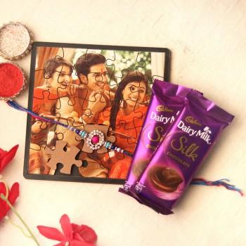 Chocolaty Puzzle Rakhi Combo