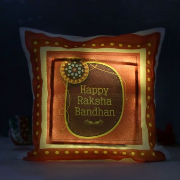 One LED Cushion For Raksha Bandhan