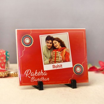 One Personalised Rectangular Tile for Rakhi