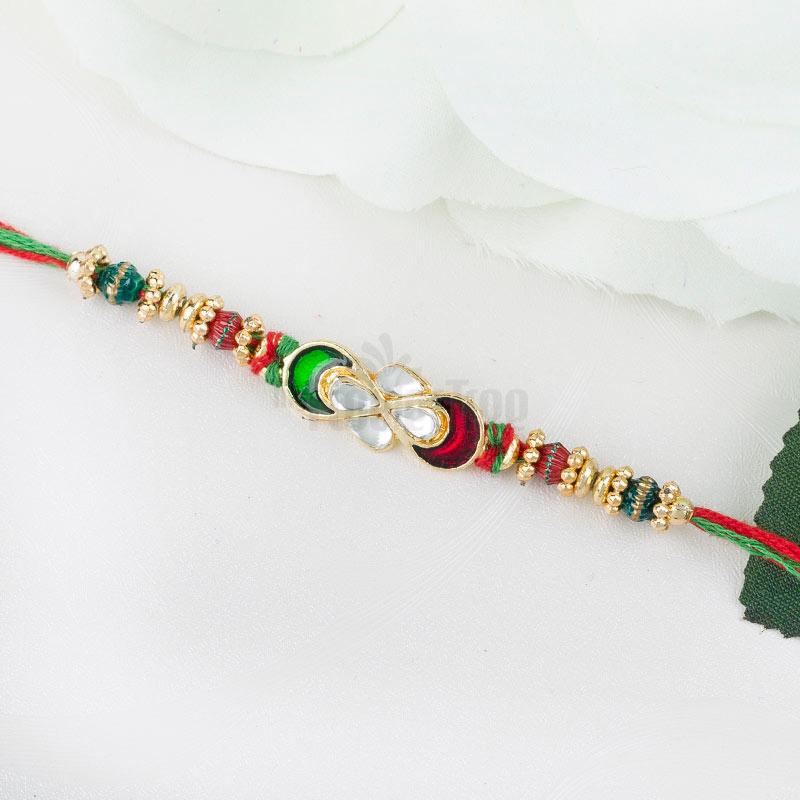 Flower Kundan Rakhi