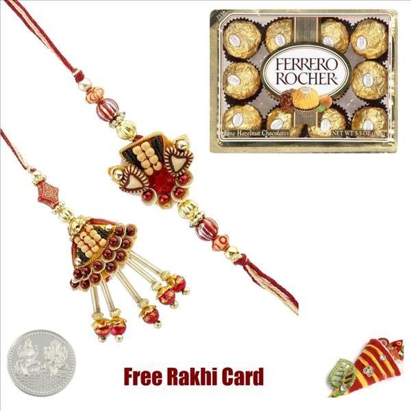 Bhaiya Bhabhi Pair With 12 Piece Ferrero Rocher