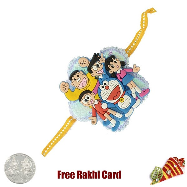 Doremon Group Rakhi With A Free Silver Coin