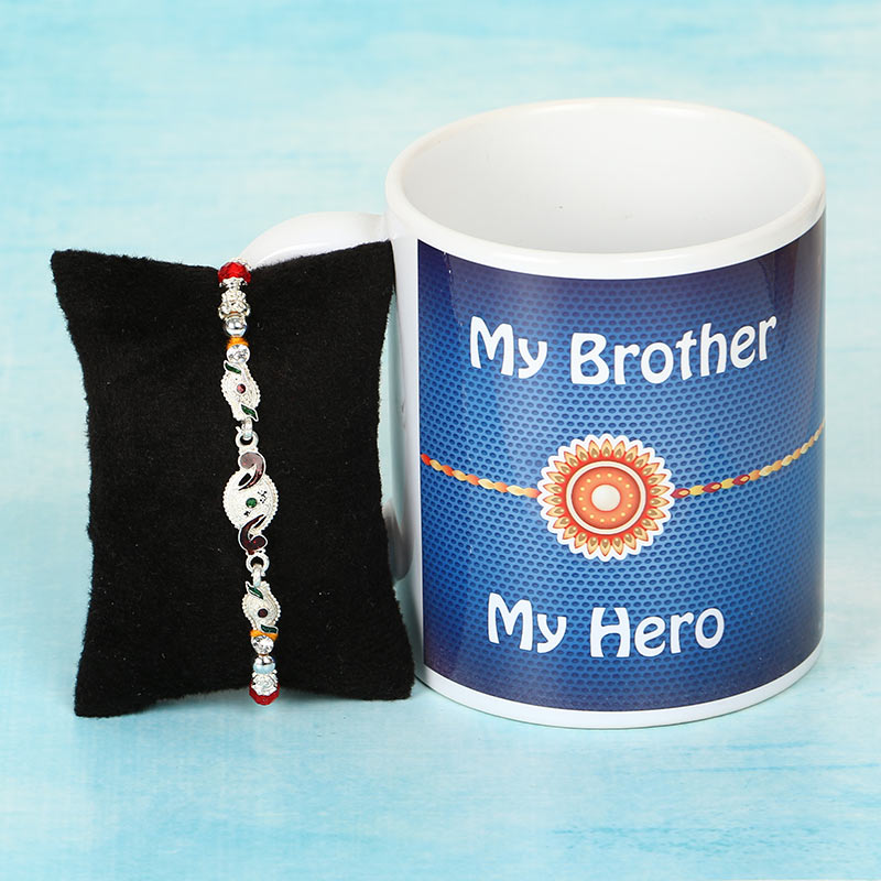 Silver Rakhi and My Brother Mug