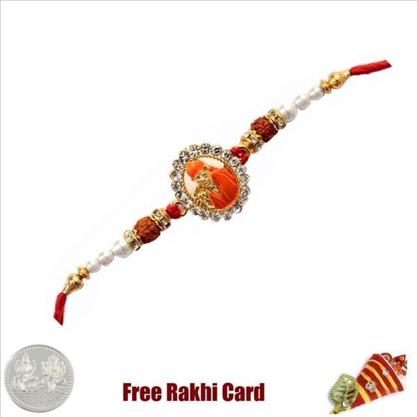 Sai Baba Rakhi With Free Silver Coin