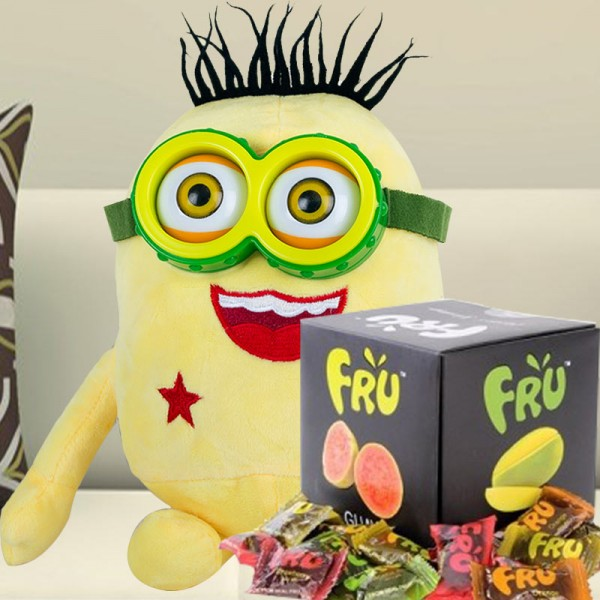 Minion Soft Toy with Fruit Candies