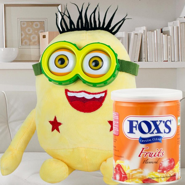 Minion Soft Toy with Fox Candies