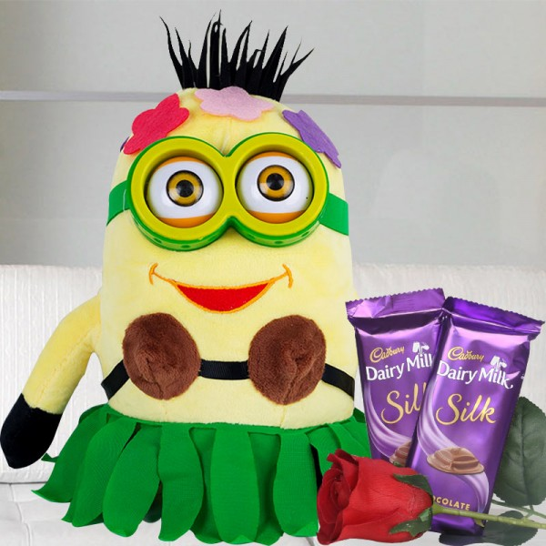 Hawai Minion with Dairy Milk Silk Chocolate