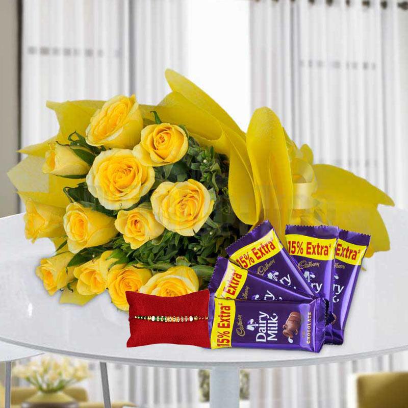 Yellow Glory with Rakhi
