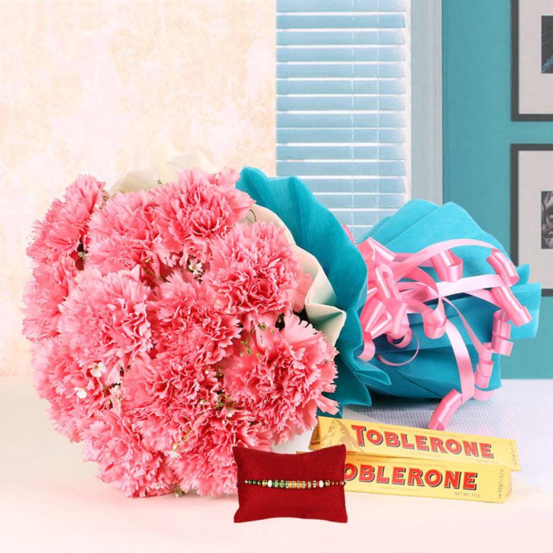 Happy Flowers with Rakhi