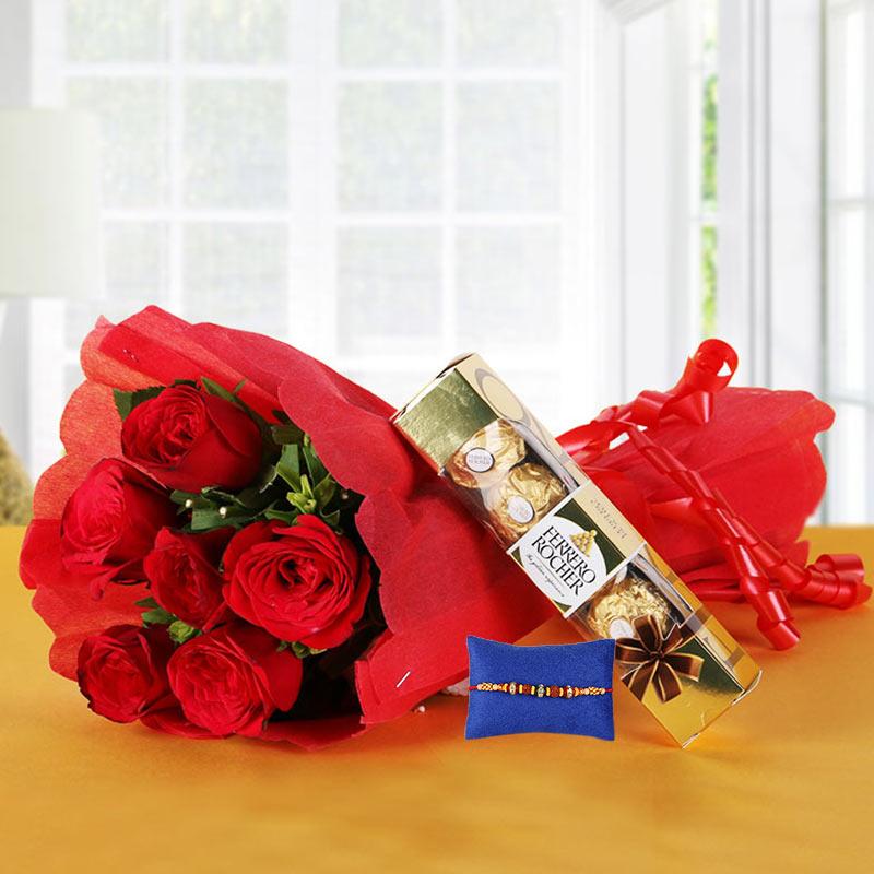 Ferrero Red Love with Rakhi
