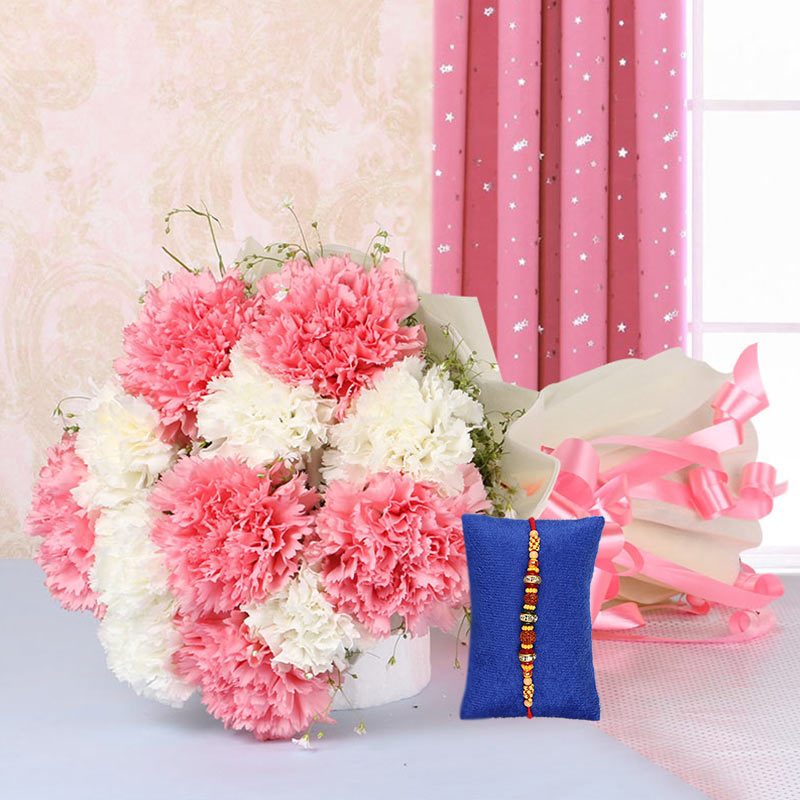 Pink and White Hamper