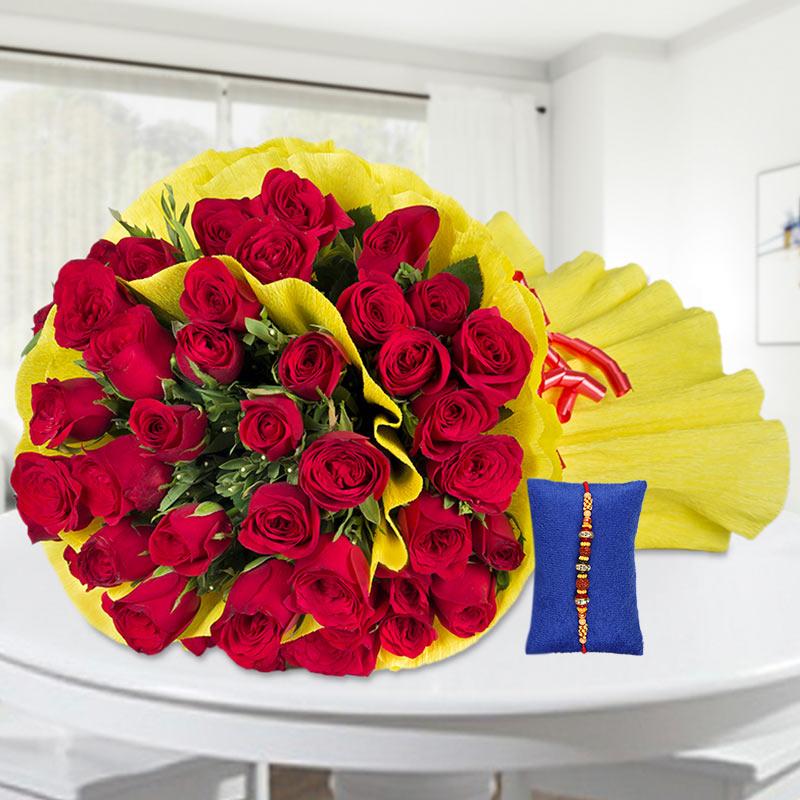 50 Roses with Rakhi