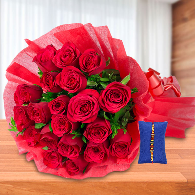 Roses with Rakhi