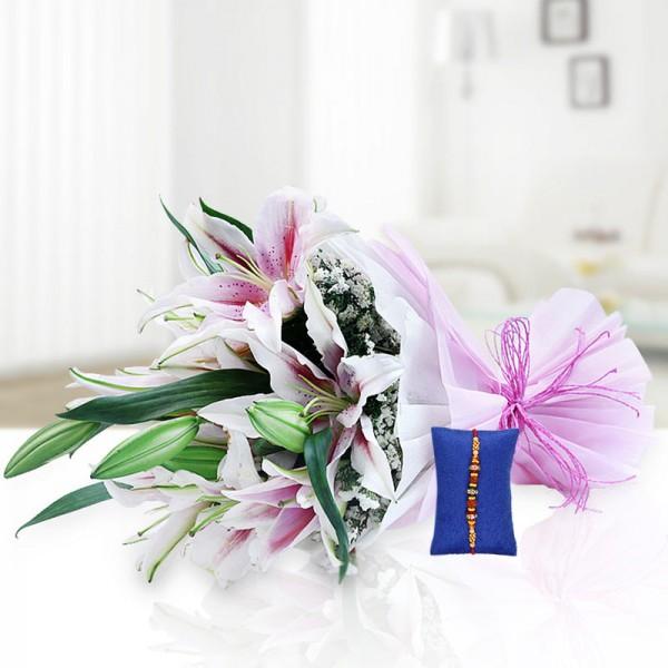 Pink Roses Rakhi Hamper