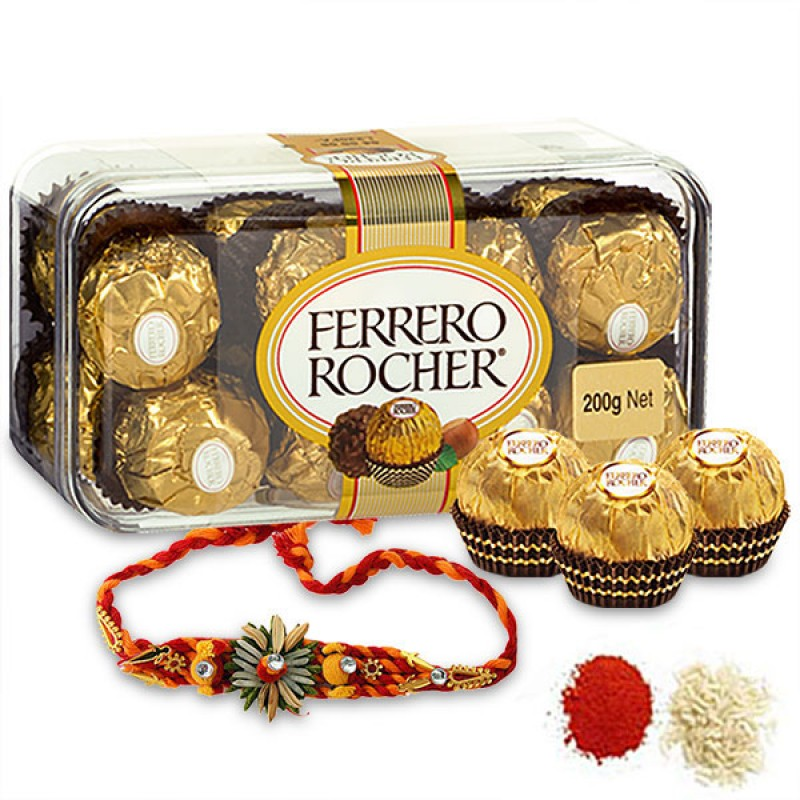 Ferrero Rocher and Rakhi Hamper