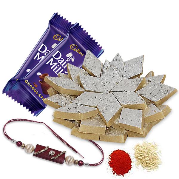 Kaju Katli and Chocolates Hamper