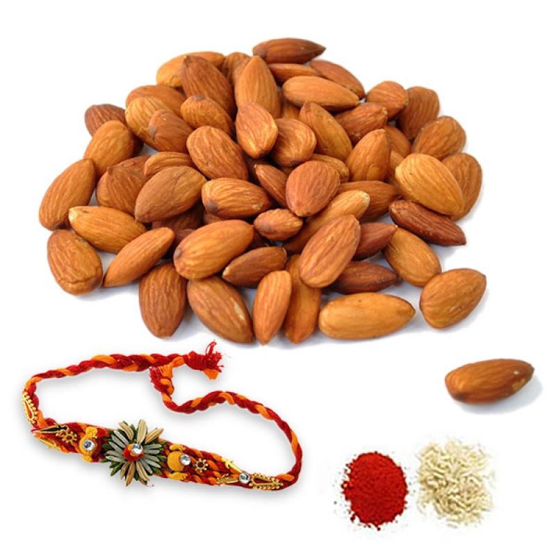 Almonds and Rakhi Hamper