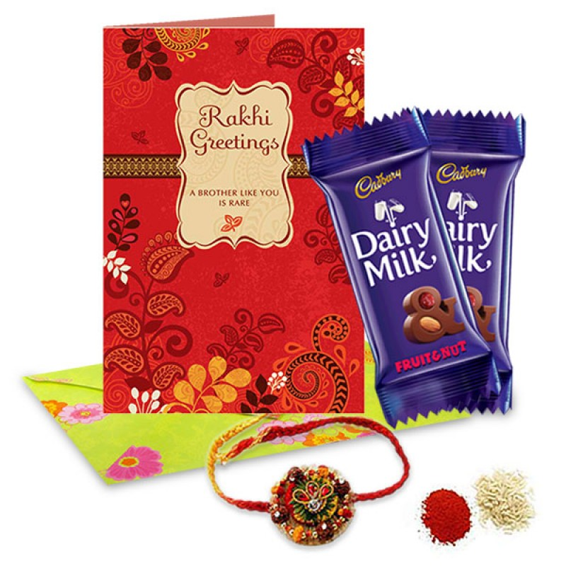 Rakhi and Chocolates  Hamper